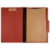 7530009908884 SKILCRAFT Classification Folder, 2 Dividers, Letter Size, Earth Red