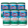 <strong>Clorox®</strong><br />Disinfecting Wipes, Fresh Scent, 7 x 8, White, 75/Canister, 6 Canisters/Carton