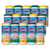 Disinfecting Wipes, 7x8, Fresh Scent/Citrus Blend, 35/Canister, 3/PK, 5 Packs/CT