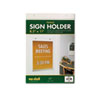 Acrylic Sign Holder, Vertical, 8 1/2 x 11, Clear