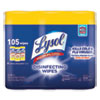 Disinfecting Wipes, 7 x 7.25, Lemon and Lime Blossom, 35 Wipes/Canister, 3 Canisters/Pack, 4 Packs/Carton