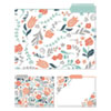 <strong>Eccolo</strong><br />Fashion File Folders, 1/3-Cut Tabs, Letter Size, Modern Floral Assortment, 9/Pack