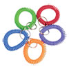 <strong>CONTROLTEK®</strong><br />Wrist Key Coil Key Organizers, Blue; Green; Orange; Purple; Red, 10/Pack