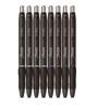 S-Gel High-Performance Gel Pen, Retractable, Medium 0.7 mm, Five Assorted Ink Colors, Black Barrel, 8/Pack