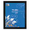 <strong>DAX®</strong><br />Flat Face Wood Poster Frame, Clear Plastic Window, 16 x 20, Black Border