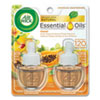 <strong>Air Wick®</strong><br />Scented Oil Twin Refill, Hawai'i Exotic Papaya/Hibiscus Flower, 0.67 oz, 6/Carton