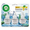 <strong>Air Wick®</strong><br />Scented Oil Refill, Fresh Waters, 0.67 oz, 3/Pack, 6 Packs/Carton