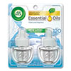 <strong>Air Wick®</strong><br />Scented Oil Twin Refill, Fresh Linen, 0.67 oz, 2/Pack, 6/Carton