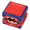 "<strong>Workpro®</strong><br />Compact Box-Style Wire Stripper, 1.18"" Plastic Square Box, Steel-Ribbon Blade, Red/Blue"