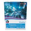 VITALITY MULTIPURPOSE PRINT PAPER, 92 BRIGHT, 20 LB, 8.5 X 11, WHITE, 750 SHEETS/REAM