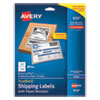 Shipping Labels with TrueBlock Technology, Inkjet Printers, 5.06 x 7.62, White, 25 Sheets/Pack