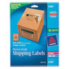 Shipping Labels with TrueBlock Technology, Inkjet/Laser Printers, 5.5 x 8.5, Brown, 2/Sheet, 25 Sheets/Pack