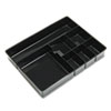 """OIC Deep Drawer Tray - 7 Compartment(s) - 2.3"""" Height x 11.5"""" Width - Black - 1Each OIC21322"""