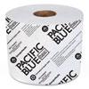 PACIFIC BLUE BASIC HIGH-CAPACITY BATHROOM TISSUE, SEPTIC SAFE, 1-PLY, WHITE, 1,500/ROLL, 48/CARTON
