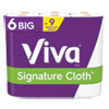 SIGNATURE CLOTH CHOOSE-A-SHEET KITCHEN ROLL PAPER TOWELS, 2-PLY, 11 X 5.9, WHITE, 78 SHEETS/ROLL, 6 ROLL/PACK, 4 PACKS/CARTON