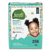 <strong>Seventh Generation®</strong><br />Free and Clear Baby Wipes, Refill, Unscented, White, 256/Pack, 3 Packs/Carton