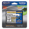 """<strong>Brother P-Touch®</strong><br />Flexible ID Tape, 0.47"""" x 26.2 ft, Black on White"""