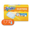 """<strong>Swiffer®</strong><br />Dusters Starter Kit, Dust Lock Fiber, 6"""" Handle, Blue/Yellow"""