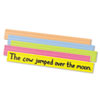 <strong>Pacon®</strong><br />Sentence Strips, 24 x 3, Assorted Bright Colors, 100/Pack