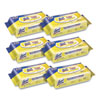 <strong>LYSOL® Brand</strong><br />Disinfecting Wipes Flatpacks, 6.69 x 7.87, Lemon and Lime Blossom, 80 Wipes/Flat Pack, 6 Flat Packs/Carton