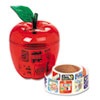 Pacon® Stickers in Plastic Apple, Reward, 600 Stickers/Pack PAC51480