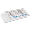Chart Tablets w/Cursive Cover, Ruled, 24 x 16, White, 25 Sheets