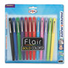 Paper Mate® Point Guard Flair Bullet Point Stick Pen, Assorted Ink, 1.4mm, Dozen PAP74423