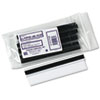 "Panter Panco Clear Magnetic Tube 3/4"" Label Holders - Plastic - 10 / Pack - Clear PCIPCM34"