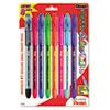 Pentel® R.S.V.P. Stick Ballpoint Pen, 1mm, Assorted Barrel, Assorted Ink, 8/Set PENBK91CRBP8M
