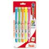Pentel® 24/7 Highlighter, Chisel Tip, Blue/Green/Orange/Pink/Yellow Ink, 5/Set PENSL12BP5M