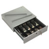 <strong>SecurIT®</strong><br />Steel Cash Drawer with Alarm Bell and 10 Compartments, Key Lock, Stone Gray