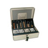 <strong>SecurIT®</strong><br />3-in-1 Cash-Change-Storage Steel Security Box w/Key Lock, Pebble Beige