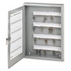Locking Key Cabinet, 100-Key, Steel, Gray, 16 1/2 x 3 x 22 1/2