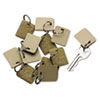 <strong>SecurIT®</strong><br />Extra Blank Hook and Loop Tags, Security-Backed, 1 1/8 x 1, Beige, 12/Pack
