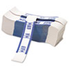 Color-Coded Kraft Currency Straps, Dollar Bill, $100, Self-Adhesive, 1000/Pack