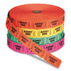 <strong>Iconex&#8482;</strong><br />Admit One Single Ticket Roll, Numbered, Assorted, 2000/Roll, 4 Rolls/Pack