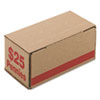 <strong>Iconex&#8482;</strong><br />Corrugated Cardboard Coin Storage w/Denomination Printed On Side, Red