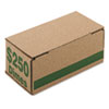 <strong>Iconex&#8482;</strong><br />Corrugated Cardboard Coin Storage w/Denomination Printed On Side, Green