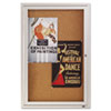 Quartet Enclosed Bulletin Board, Natural Cork/Fiberboard, 24 x 36, Silver Aluminum Frame QRT2363