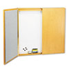 "Quartet® Laminate Conference Room Cabinet - 48"" Height x 48"" Width - White Porcelain Surface - O QRT838"