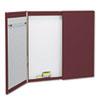 Quartet Cabinet, Fabric/Porcelain-on-Steel, 48 x 48 x 2, Beige/White, Mahogany Frame QRT878