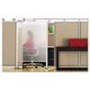 Premium Workstation Privacy Screen, 38w x 64d, Translucent Clear/Silver
