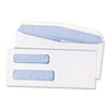 Quality Park™ 2-Window Security Tinted Check Envelope, #8 5/8, 3 5/8 x 8 5/8, White, 1000/Box - 24532B