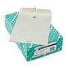 Quality Park™ Clasp Envelope, 9 x 12, 28lb, Executive Gray, 100/Box QUA38590