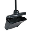 "Lobby Pro Upright Dustpan, w/Cover, 12 1/2""W, Plastic Pan/Metal Handle, Black"