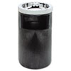 Rubbermaid® Commercial Smoking Urn w/Ashtray and Metal Liner, 19.5H x 12.5 dia, Black - FG258600BLA