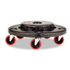 Rubbermaid® Commercial Brute Quiet Dolly, 250lb Capacity, 18 1/4 dia. x 6 5/8h, Black RCP264043BLA