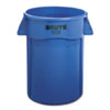 Rubbermaid® Commercial Brute Vented Trash Receptacle, Round, 44 gal, Blue RCP264360BE
