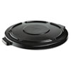 Rubbermaid® Commercial Vented Round Brute Lid, 24 1/2 x 1 1/2, Black RCP264560BLA