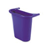 Rubbermaid® Commercial Wastebasket Recycling Side Bin, Attaches Inside or Outside, 4.75qt, Blue RCP295073BE